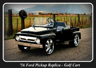 Custom Golf Carts - 1956 Ford Pickup Replic