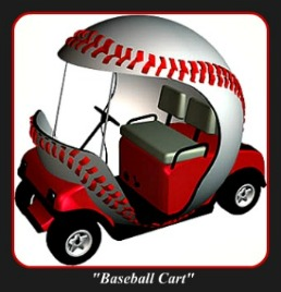 Custom Golf Carts - Baseball Golf Car