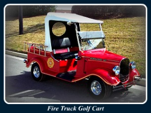 Custom Golf Carts - Fire Truck Golf Cart
