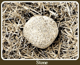 The History of Golf incluced stones for golf balls