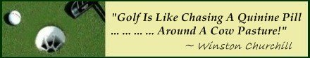 In The History of Golf; The golf game was played in sheep and cow pastures