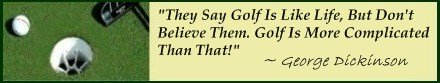 Famous Golf Quote; It's hard to achieve great Golf Scores, golf is a complicated game